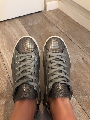 Crime Sneakers Silbergrau