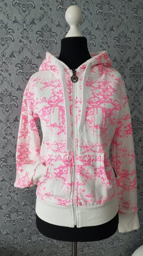 Criminal Damage Hoody white-pink