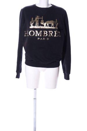 Criminal Damage Sweatshirt schwarz-goldfarben Motivdruck Casual-Look