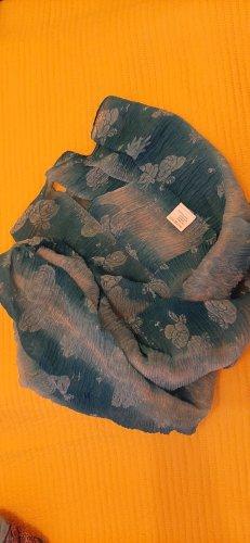 Écharpe froissée turquoise
