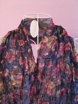 Crinkle-Schal mit Blumenmuster