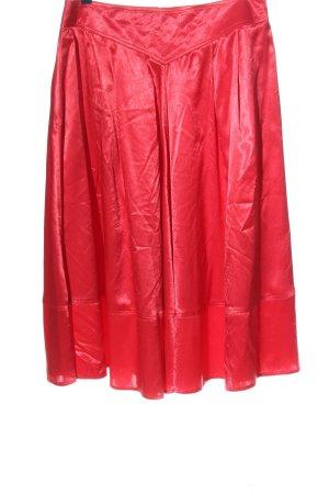 Cris Devi High Waist Skirt red casual look