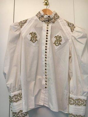 Cris Devi Long Sleeve Blouse white