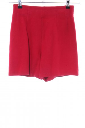 Crisca High-Waist-Shorts rot Casual-Look