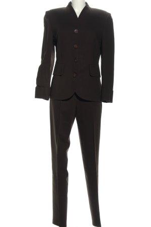 Crisca Tailleur-pantalon brun style d'affaires