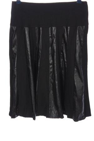 Crisca High Waist Skirt black casual look