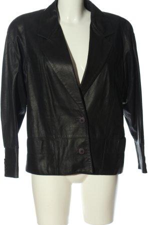 cristiano di thiene Leather Blazer black casual look