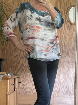 Cristina Gavioli Blusa in seta multicolore Seta