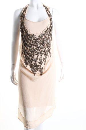 Cristina Gavioli Tunic Dress nude-bronze-colored layered look