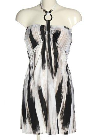 Cristina Jerseykleid schwarz-weiß Allover-Druck Casual-Look