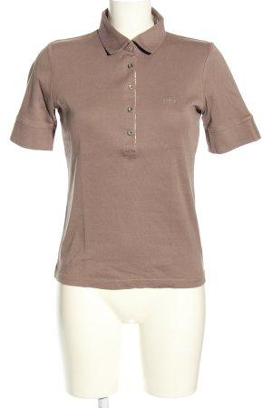 Cristina Mazzonetto Polo-Shirt bronzefarben Casual-Look