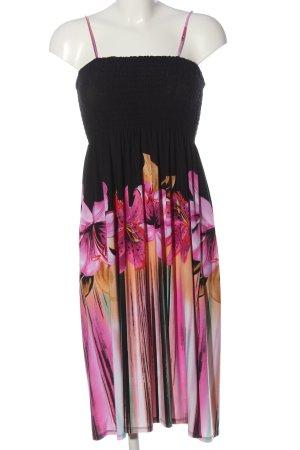 Cristina Pinafore dress flower pattern casual look