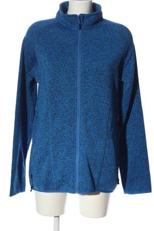 Crivit Fleecejacke blau meliert Casual-Look