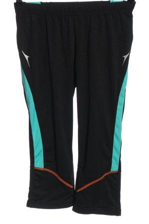 Crivit Legging noir-turquoise élégant