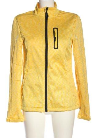 Crivit Chaqueta deportiva amarillo pálido-blanco moteado look casual