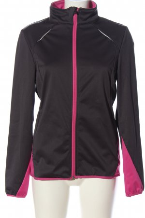 Crivit Übergangsjacke schwarz-pink Casual-Look