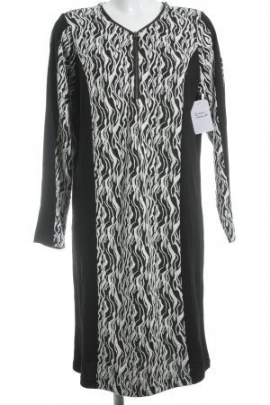 Crizpy A Line Dress black-white abstract pattern simple style