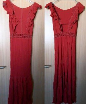 Crochet Flounce Maxi Dress Forever21