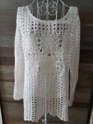 Urban Outfitters Crochet Sweater white