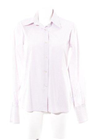 Crocket Langarmhemd rosé-weiß Karomuster klassischer Stil