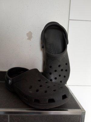Crocs Vilten sloffen zwart