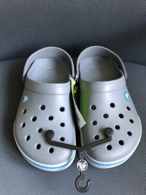 Crocs Clog Sandals grey-cornflower blue