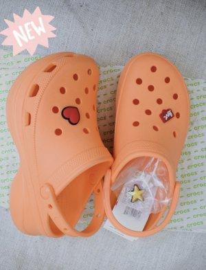 Crocs Klompsandalen oranje-licht Oranje Gemengd weefsel