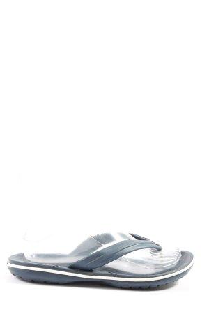 Crocs Flip flop sandalen blauw casual uitstraling