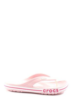 Crocs Flip Flop Sandalen pink Casual-Look