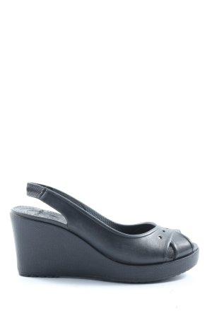 Crocs Wedges Sandaletten blau Casual-Look