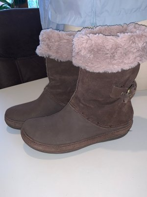 Crocs Winter Boots brown-beige leather