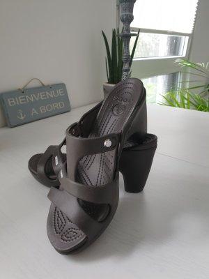 Crocs Wedge Sandals anthracite-black brown