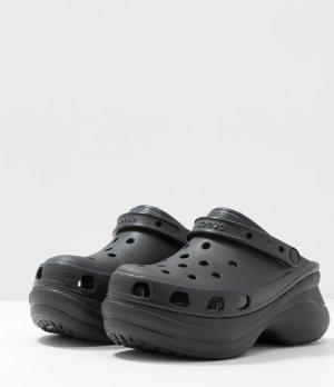 Crocs Mule à talon noir tissu mixte