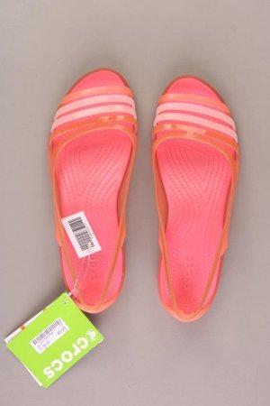 Crocs Sandalen Isabella Huarache Flat Coral Relaxed Fit Größe 38 neu mit Etikett rosa