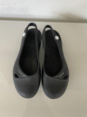 Crocs schwarz Ballerinas Schlappen gr W6 36/37
