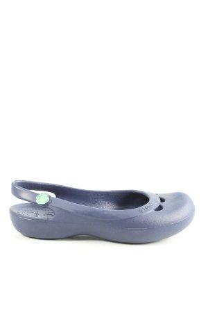 Crocs Ballerina aperta sul tallone blu stile casual