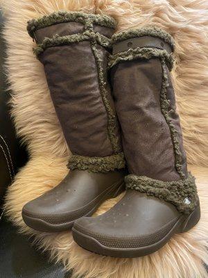 Crocs Halfhoge laarzen zwart bruin-donkerbruin