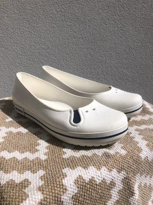 Crocs Baleriny Mary Jane biały-stalowy niebieski