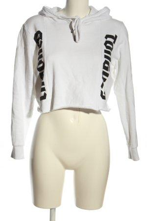 CROOKED TONGUES Kapuzensweatshirt weiß-schwarz Motivdruck Casual-Look