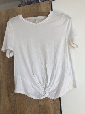 H&M Cropped shirt wit