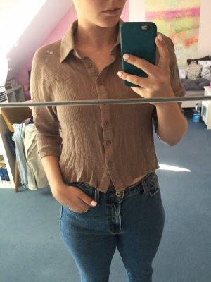 Crop-Bluse khaki