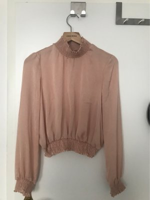 Crop bluse rosa