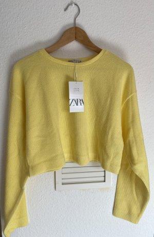 Crop gelb Zara Pullover