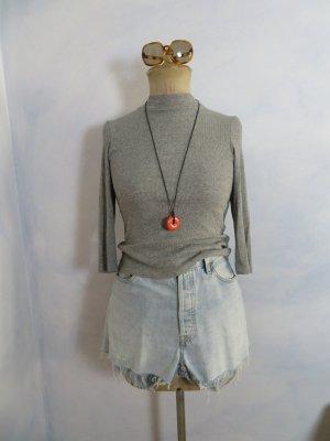 Monki Ribbed Shirt grey mixture fibre
