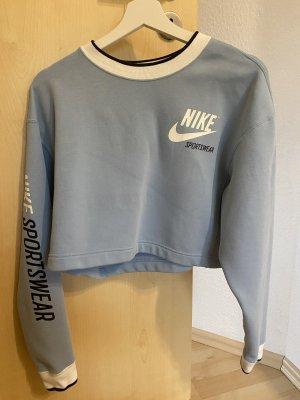 Crop Hoodie blau Nike