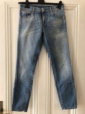 Jeans a 3/4 azzurro