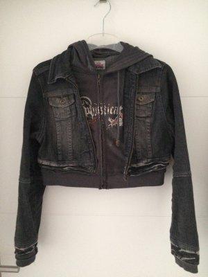 Colours of the World Denim Jacket black-anthracite cotton