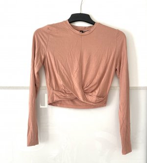 H&M Cropped Shirt rose-gold-coloured