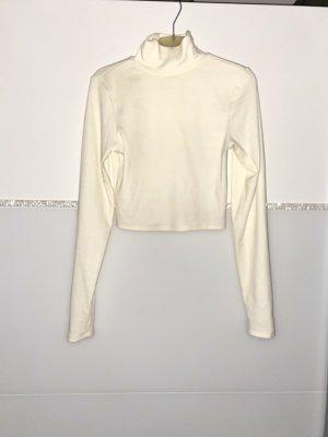 C&A Koszulka z golfem w kolorze białej wełny-kremowy