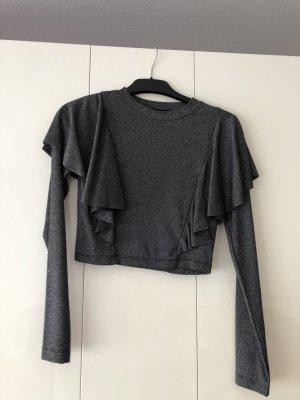 H&M T-shirt court gris foncé
